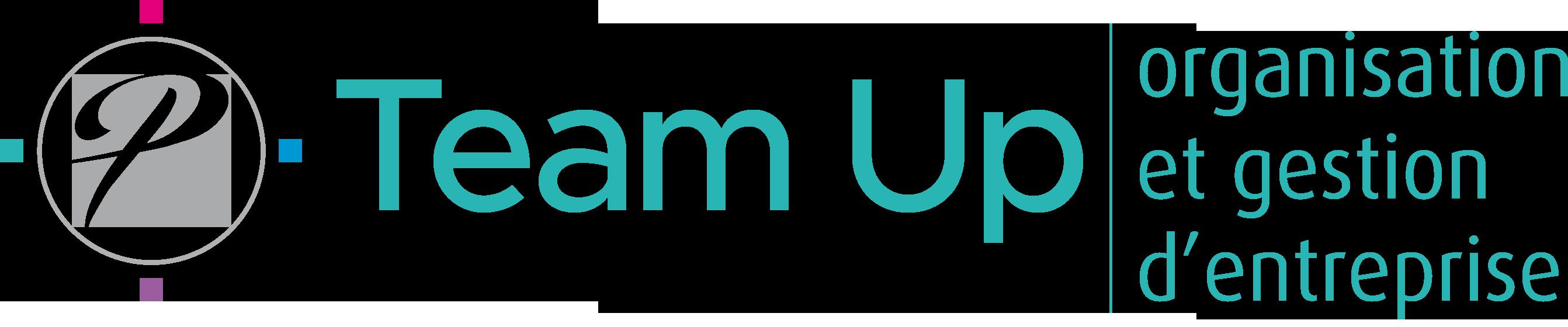 logo team up organisation et gestion d'entreprise