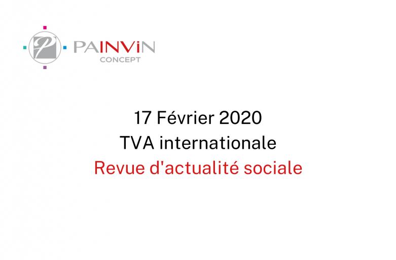 TVA internationale – 17 Février 2020