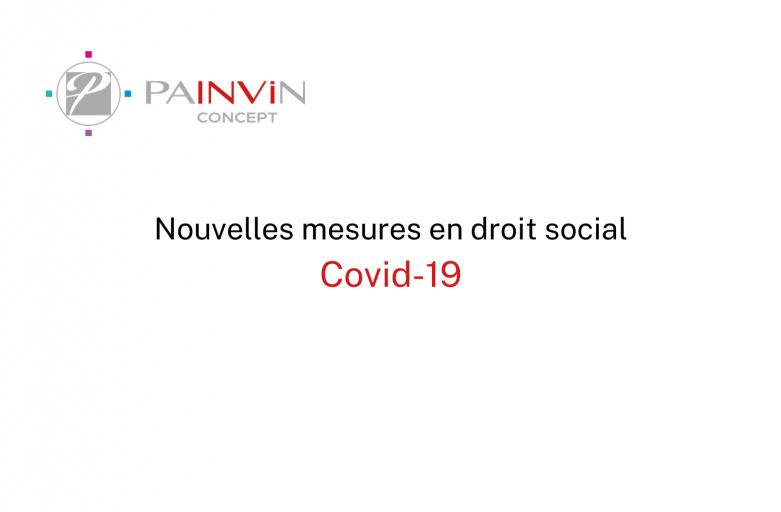 Nouvelles mesures en droit social