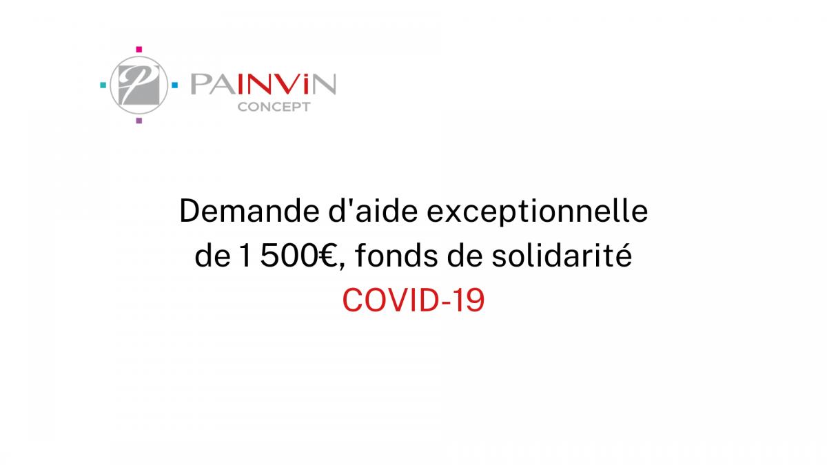 demande d'aide exceptionnelle de 1500 euros dans le cadre du fonds de solidarité mis en place par l'état