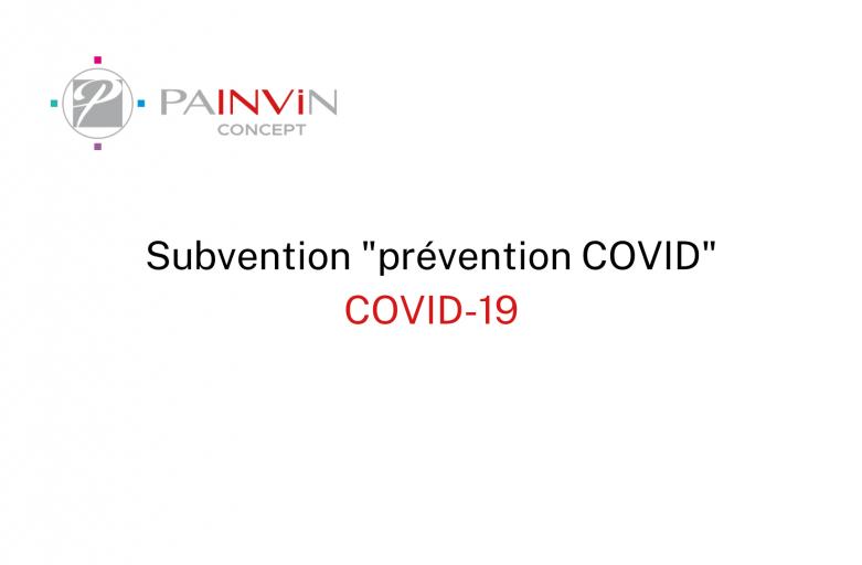 subvention prévention covid mise en place par l'assurance maladie dans le cadre du covid-19