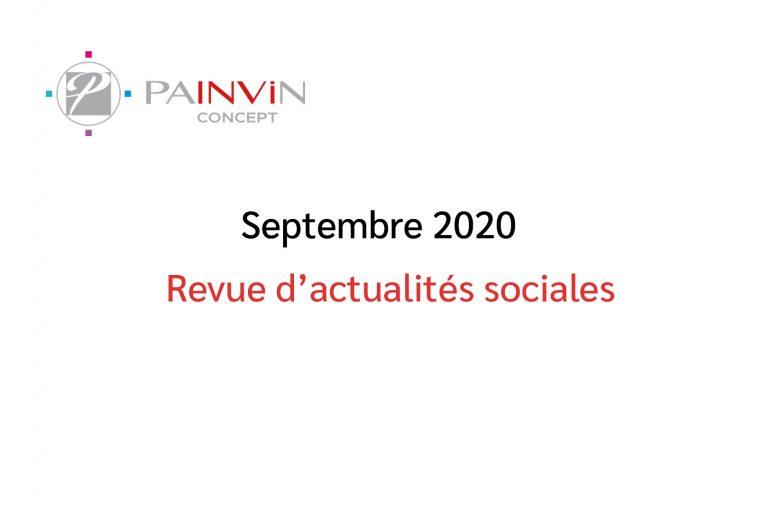 Actualités sociales Septembre 2020